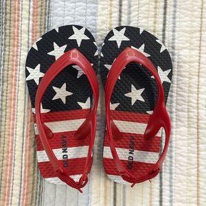 NWOT Old Navy Toddler American Flip-Flops